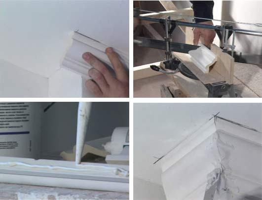 Как сделать пластиковый плинтус 45 градусов